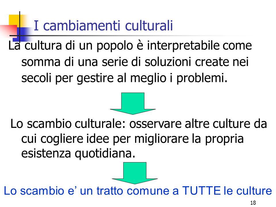 I cambiamenti culturali