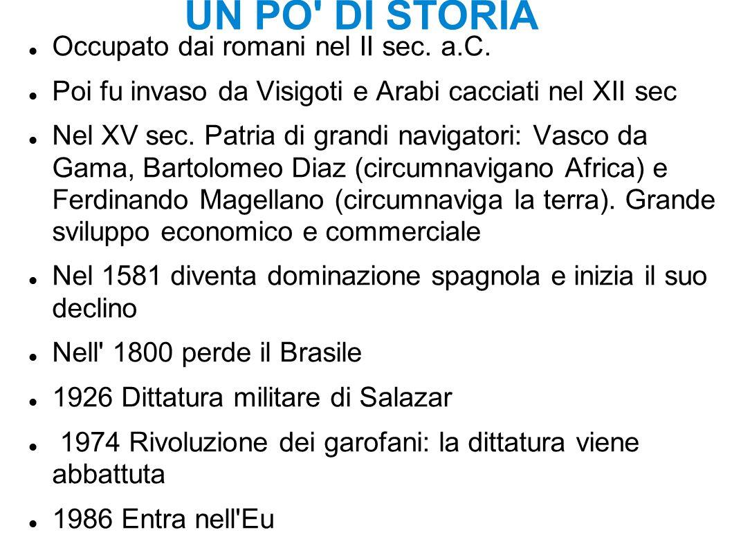 UN PO DI STORIA Occupato dai romani nel II sec. a.C.
