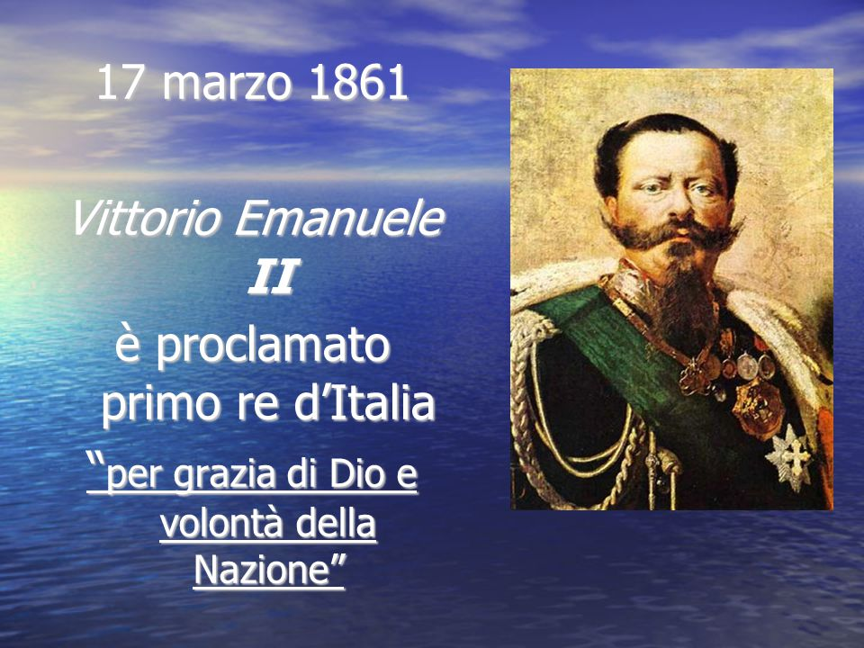 è proclamato primo re d'Italia