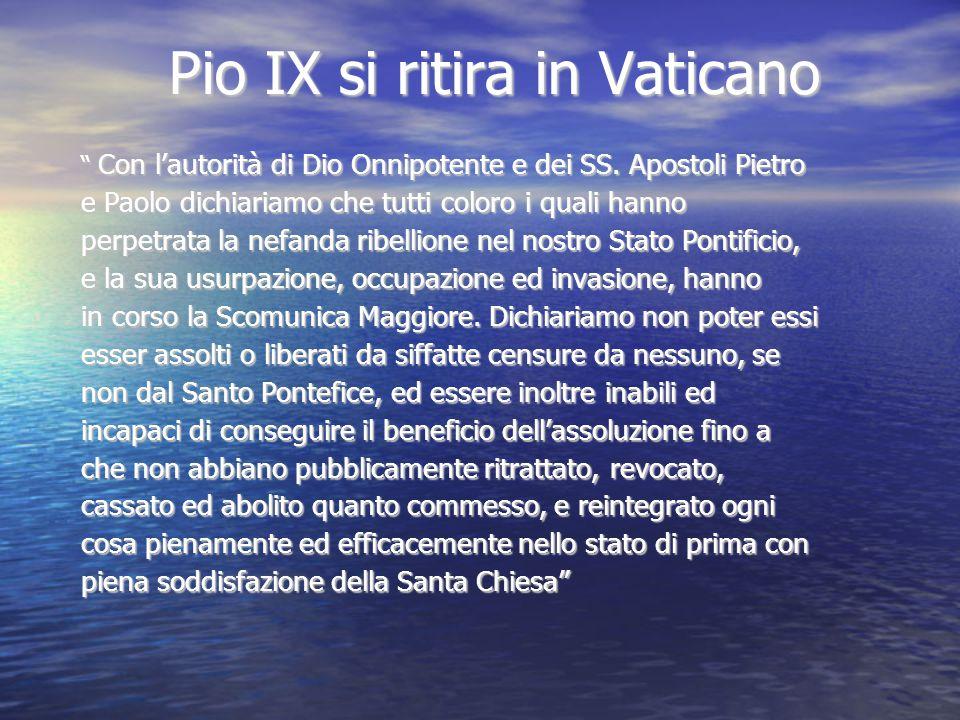 Pio IX si ritira in Vaticano