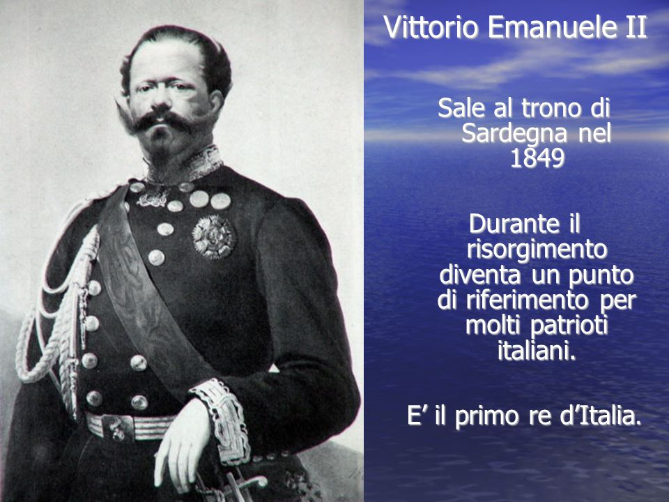 Sale al trono di Sardegna nel 1849