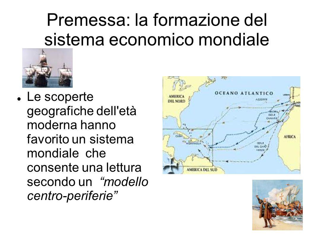 Premessa: la formazione del sistema economico mondiale
