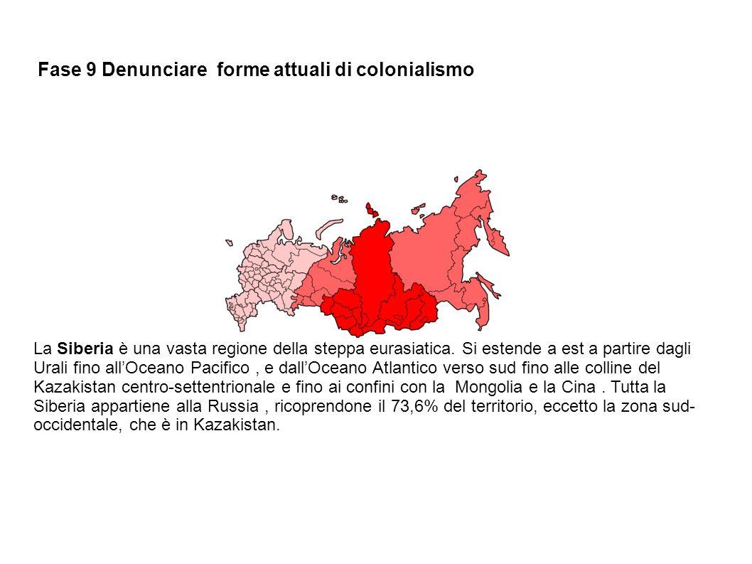 Fase 9 Denunciare forme attuali di colonialismo