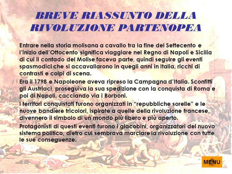 BREVE RIASSUNTO DELLA RIVOLUZIONE PARTENOPEA