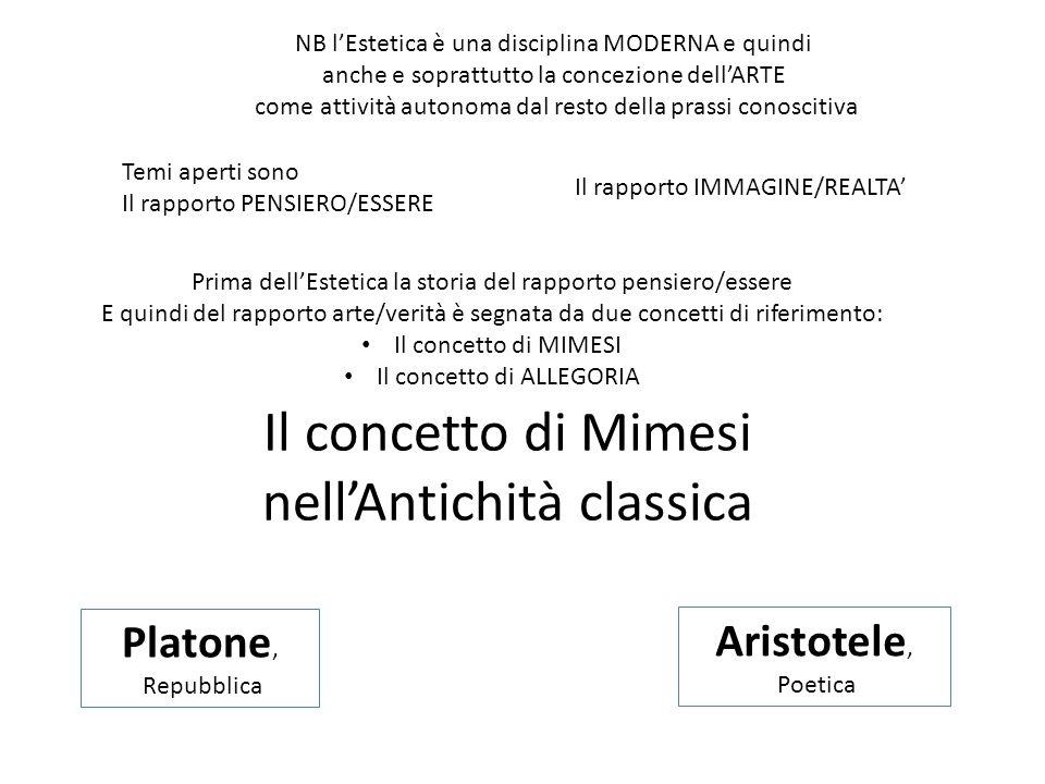Il concetto di Mimesi nell'Antichità classica