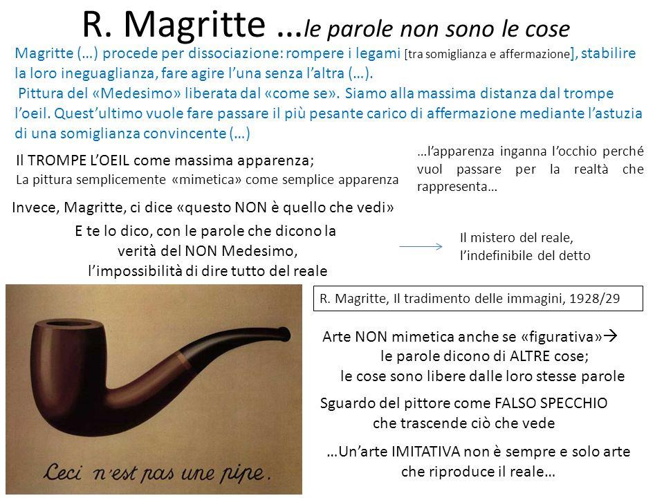 R. Magritte …le parole non sono le cose