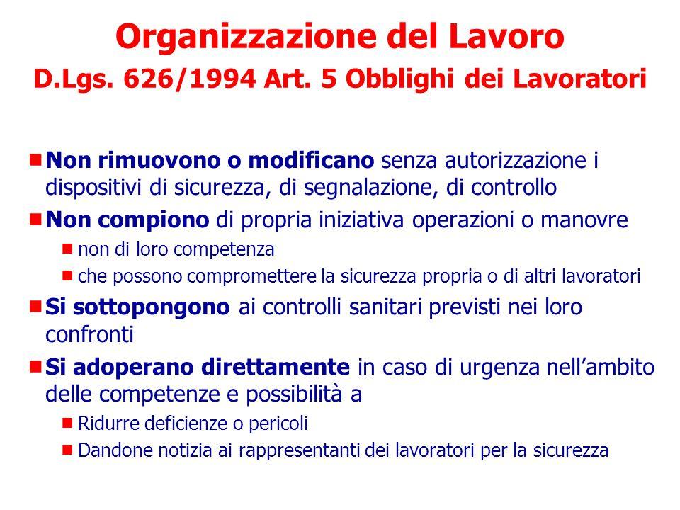 Organizzazione del Lavoro