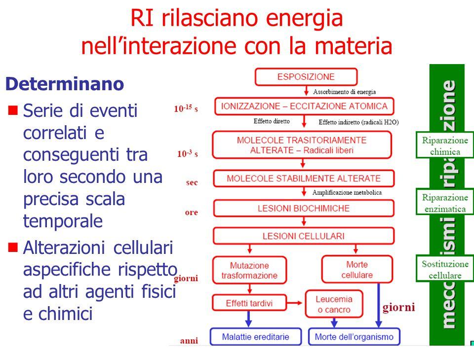 RI rilasciano energia nell'interazione con la materia