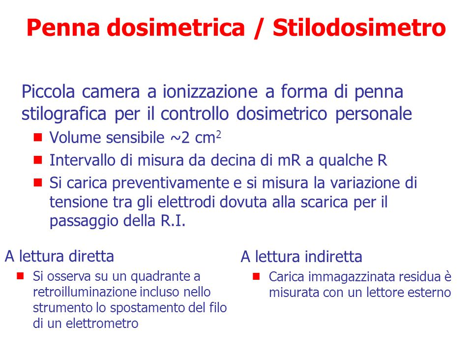 Penna dosimetrica / Stilodosimetro
