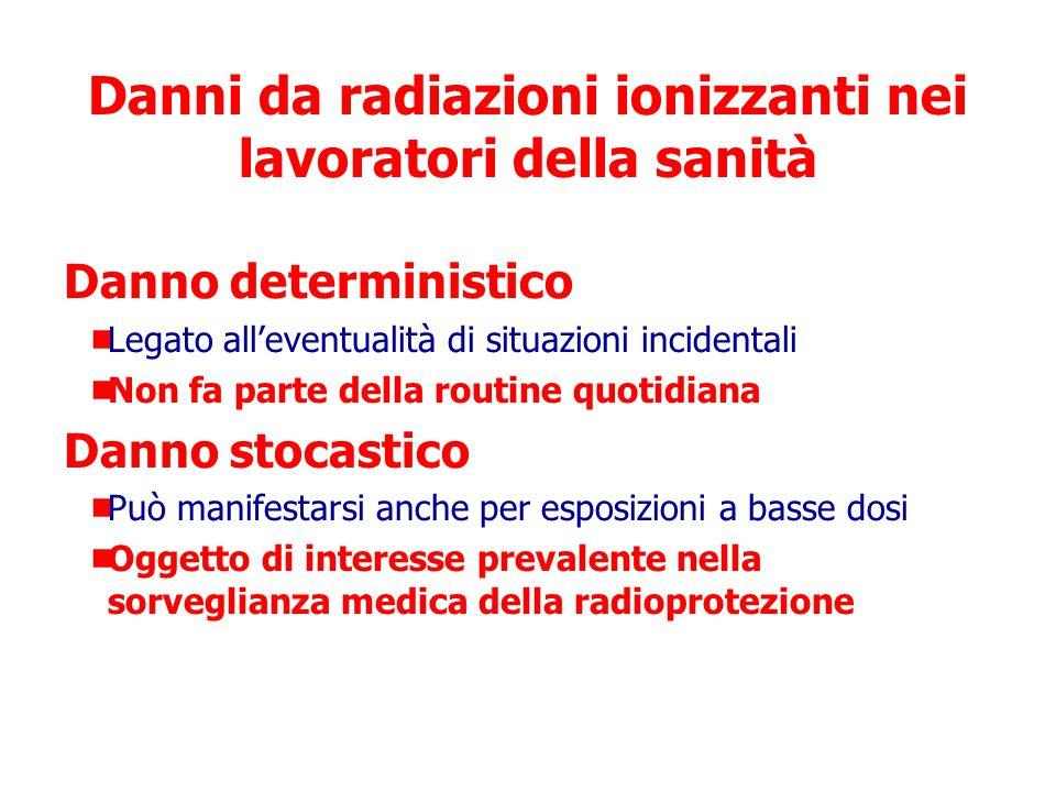 Danni da radiazioni ionizzanti nei lavoratori della sanità