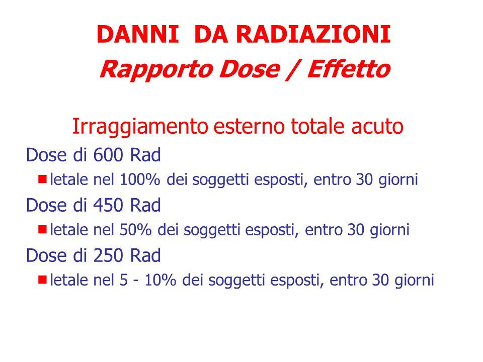 Rapporto Dose / Effetto