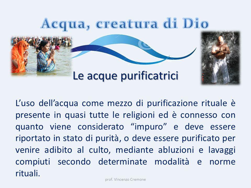 Le acque purificatrici