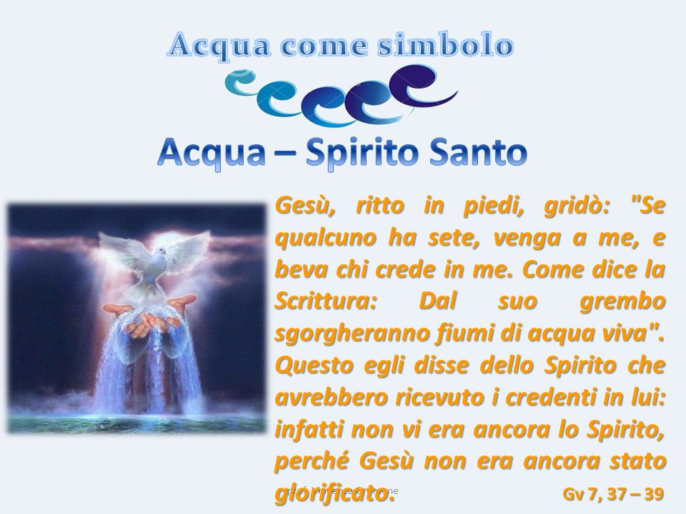 Acqua – Spirito Santo Acqua come simbolo