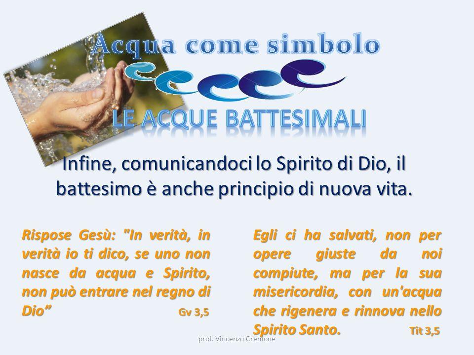 Acqua come simbolo Le acque battesimali