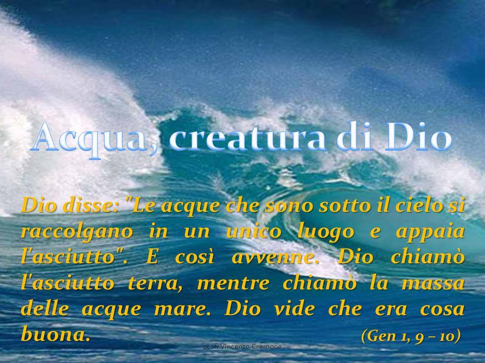 Acqua, creatura di Dio