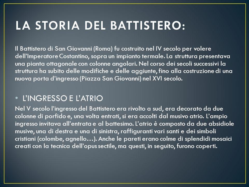 LA STORIA DEL BATTISTERO:
