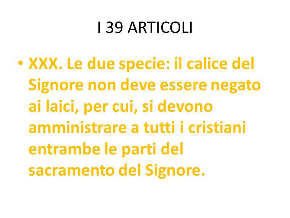 I 39 ARTICOLI