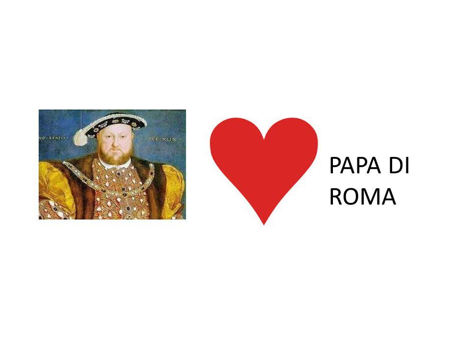 PAPA DI ROMA ENRICO VIII FEDELE A ROMA SCRIVE CONTRO LUTERO, OTTIENE IL TITOLO DI DEFENSOR FIDEI