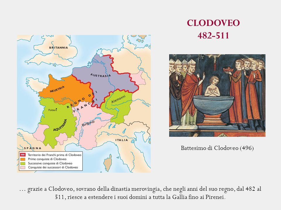 CLODOVEO 482-511 Battesimo di Clodoveo (496)