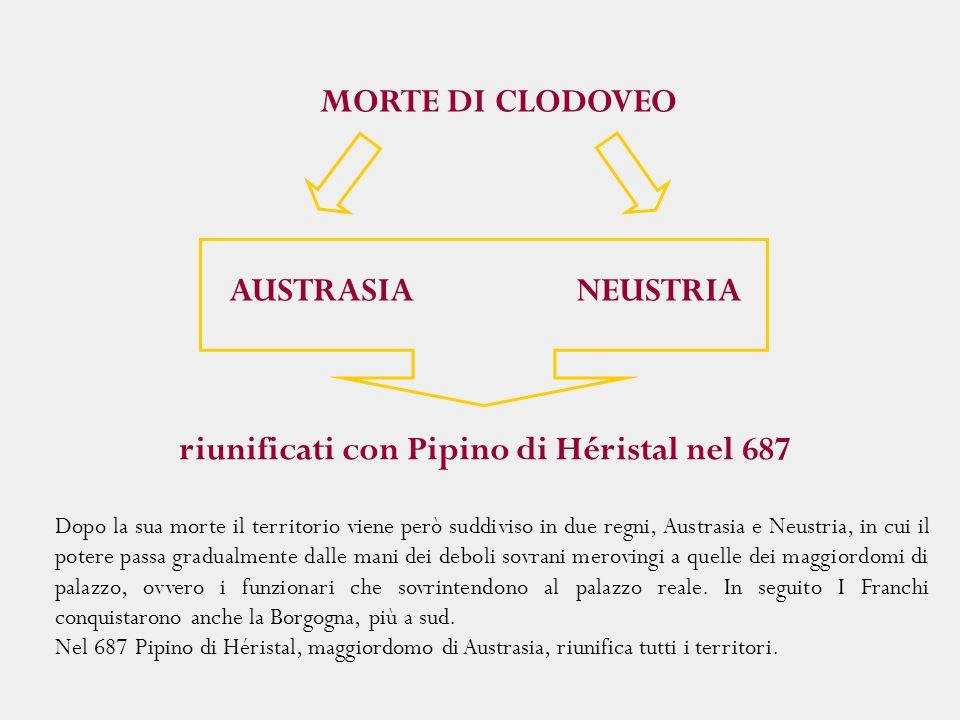 riunificati con Pipino di Héristal nel 687