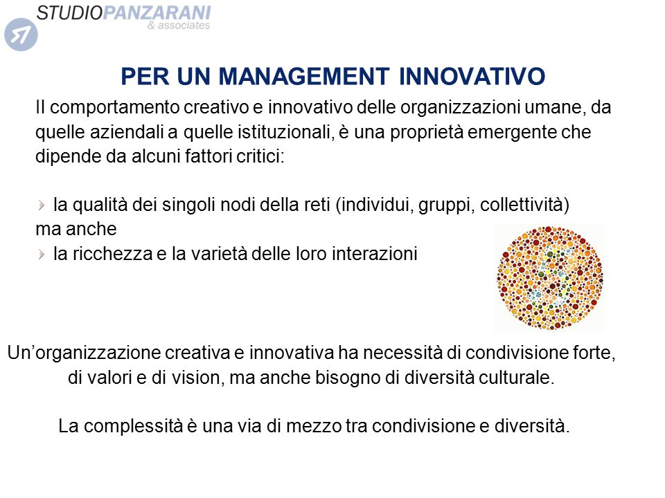 PER UN MANAGEMENT INNOVATIVO