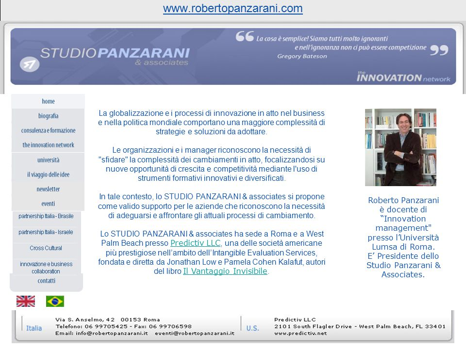 www.robertopanzarani.com Titolo presentazione 09/04/2017