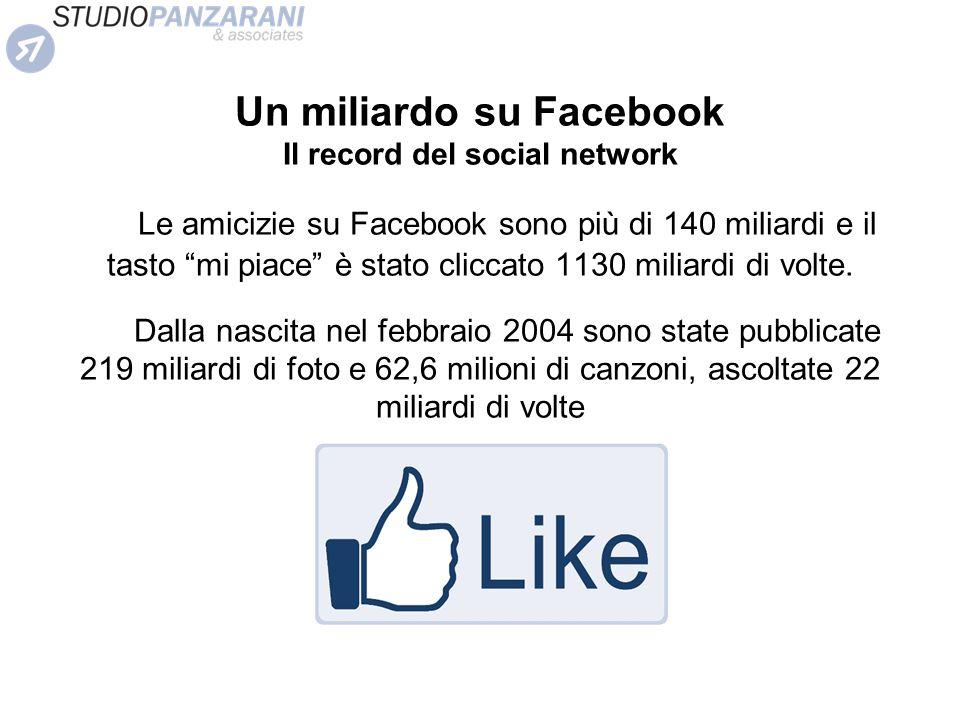 Un miliardo su Facebook Il record del social network
