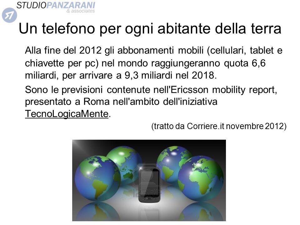 Un telefono per ogni abitante della terra