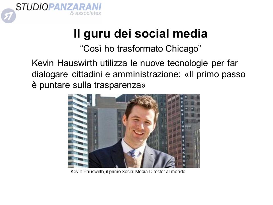 Il guru dei social media