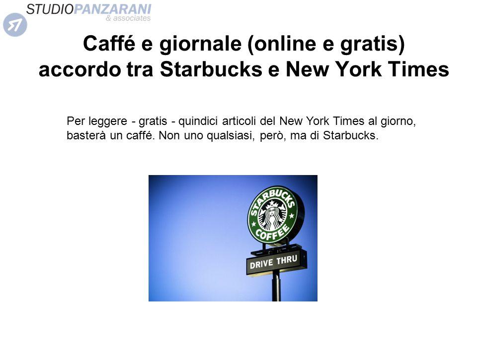 Caffé e giornale (online e gratis) accordo tra Starbucks e New York Times