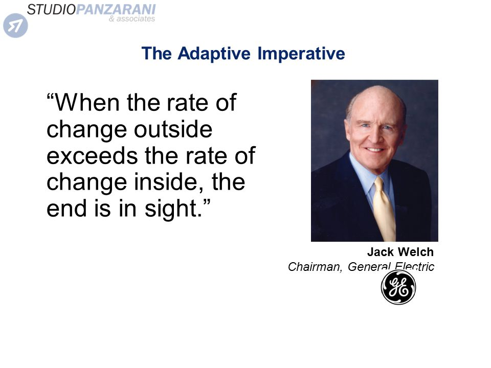 The Adaptive Imperative