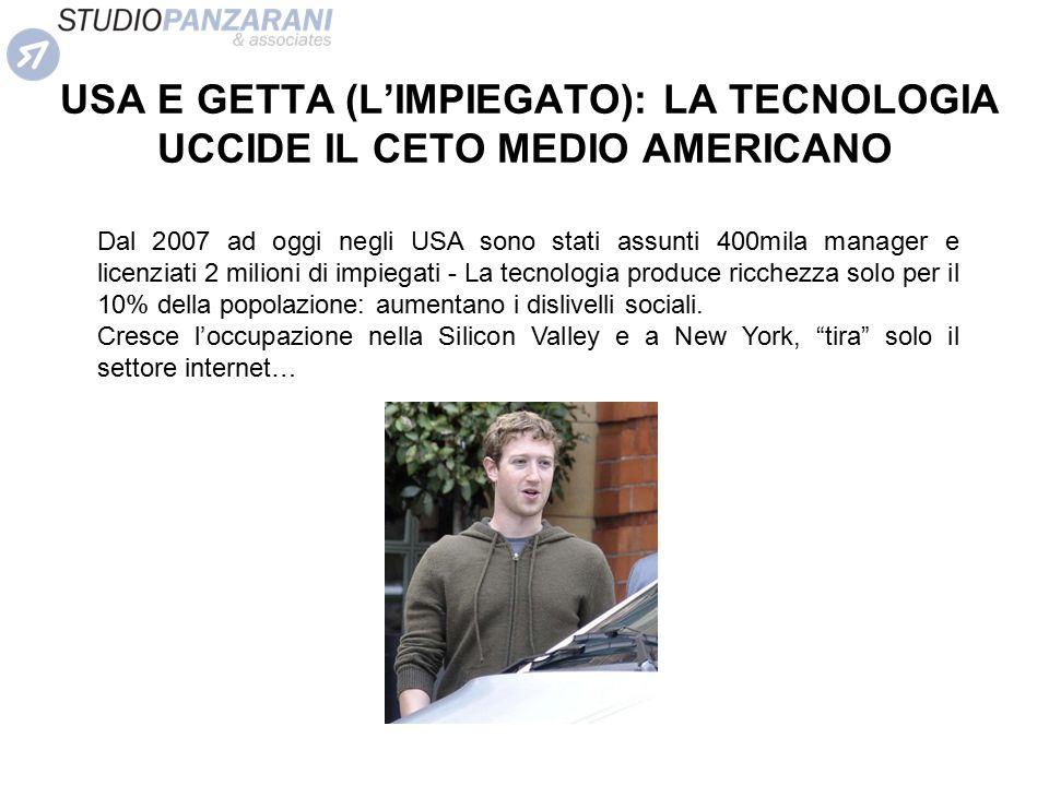 USA E GETTA (L'IMPIEGATO): LA TECNOLOGIA UCCIDE IL CETO MEDIO AMERICANO