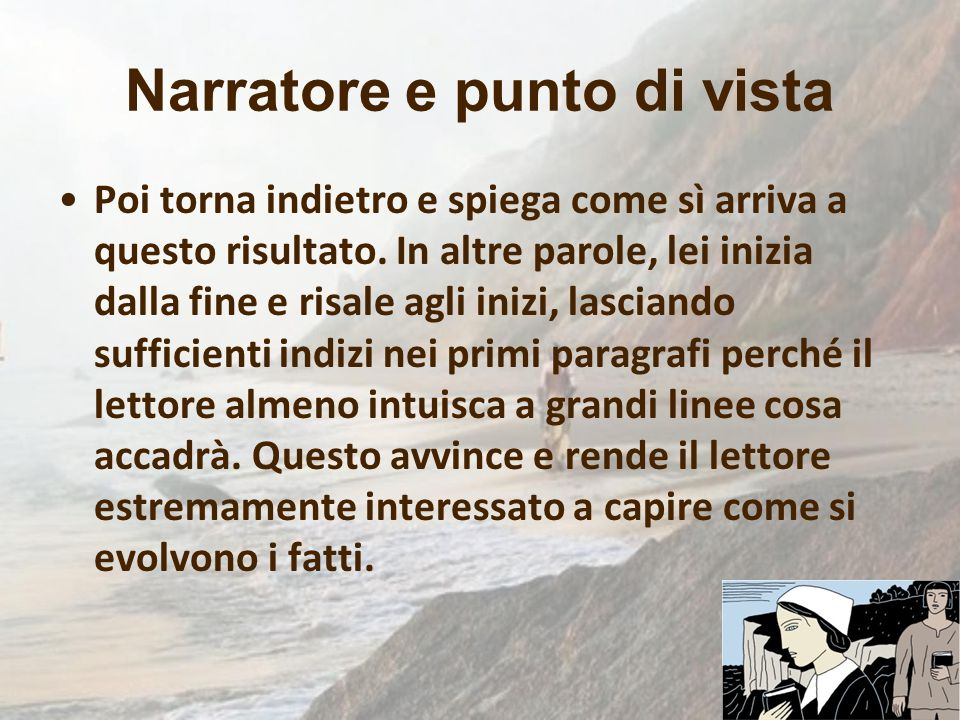 Narratore e punto di vista