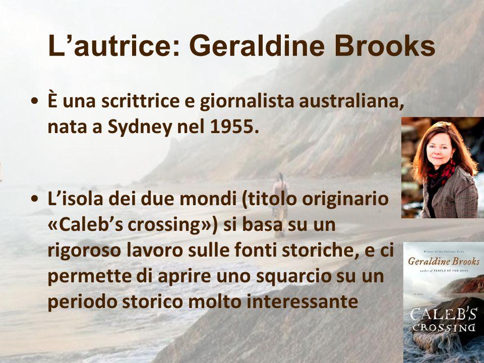 L'autrice: Geraldine Brooks