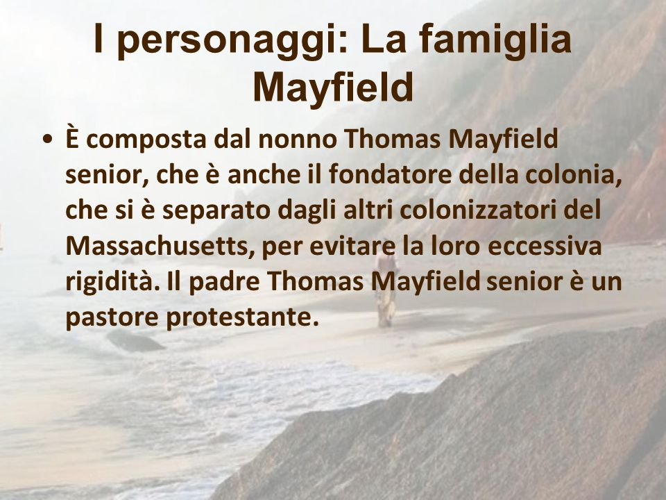 I personaggi: La famiglia Mayfield