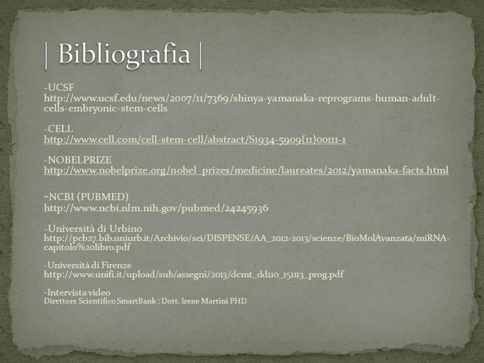 | Bibliografia |