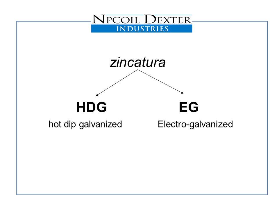 zincatura HDG EG hot dip galvanized Electro-galvanized