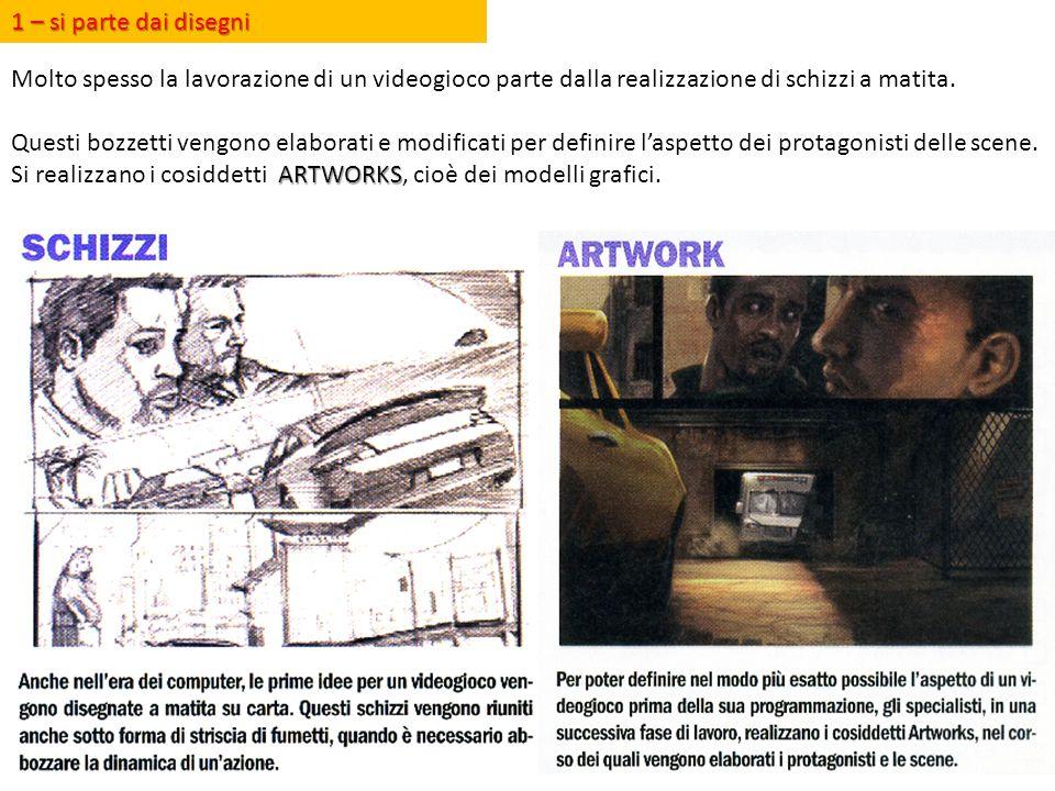 1 – si parte dai disegni Molto spesso la lavorazione di un videogioco parte dalla realizzazione di schizzi a matita.