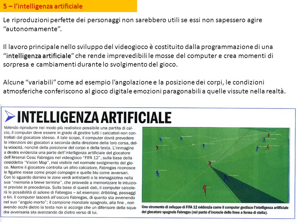 5 – l'intelligenza artificiale