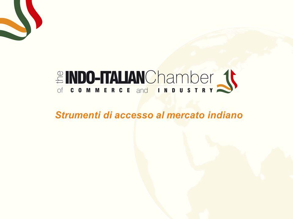 Strumenti di accesso al mercato indiano