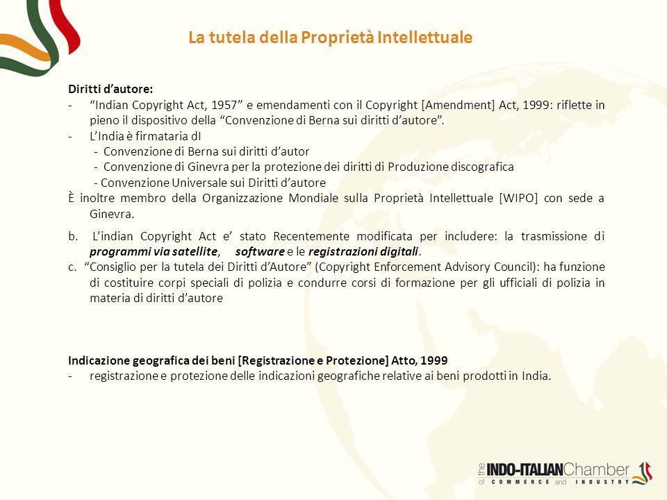 La tutela della Proprietà Intellettuale