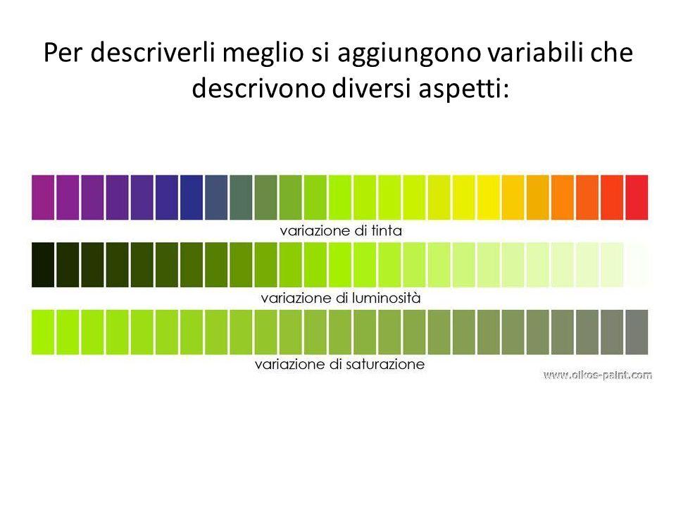 Per descriverli meglio si aggiungono variabili che descrivono diversi aspetti:
