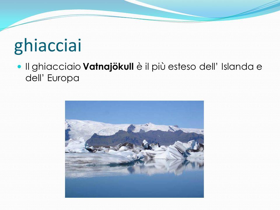 ghiacciai Il ghiacciaio Vatnajökull è il più esteso dell' Islanda e dell' Europa
