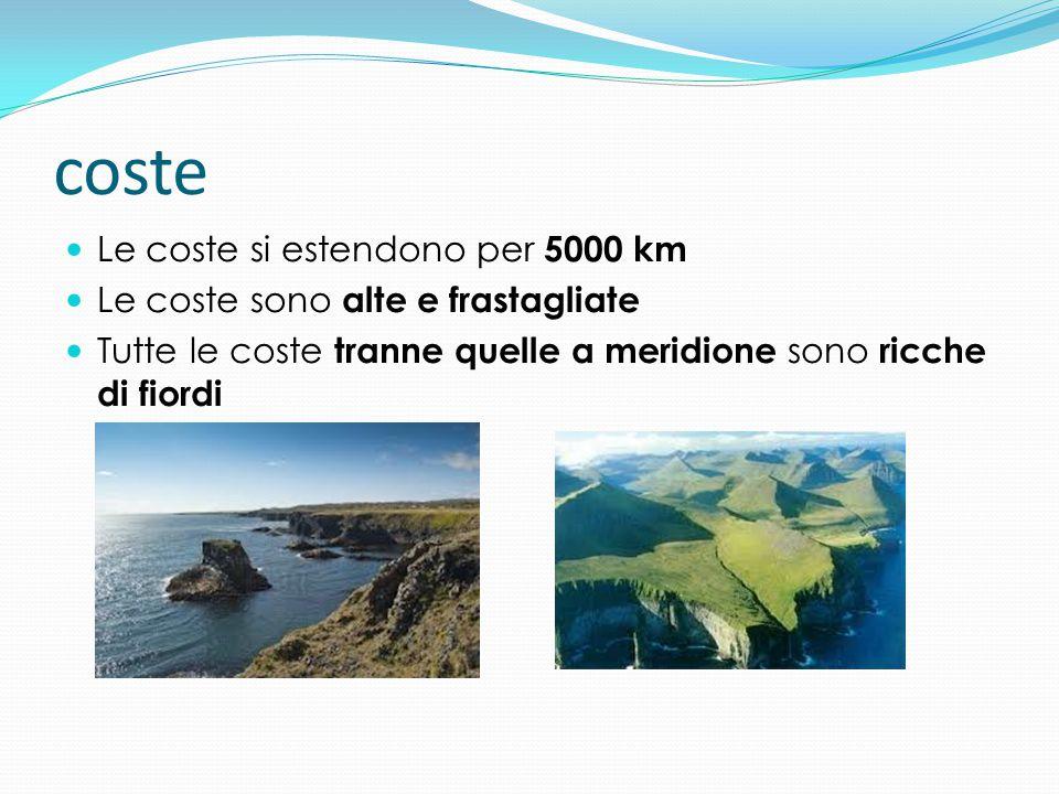 coste Le coste si estendono per 5000 km