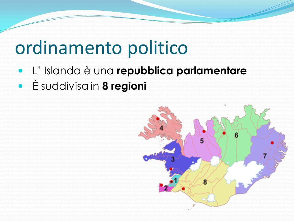 ordinamento politico L' Islanda è una repubblica parlamentare