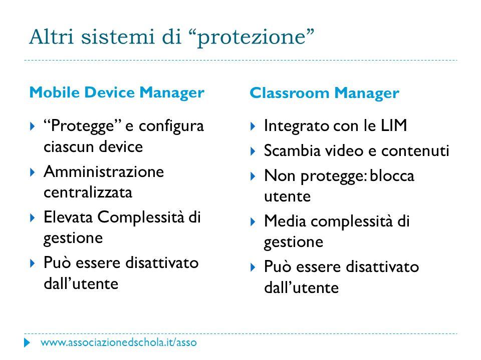 Altri sistemi di protezione