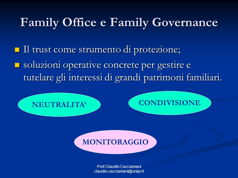 Family Office e Family Governance