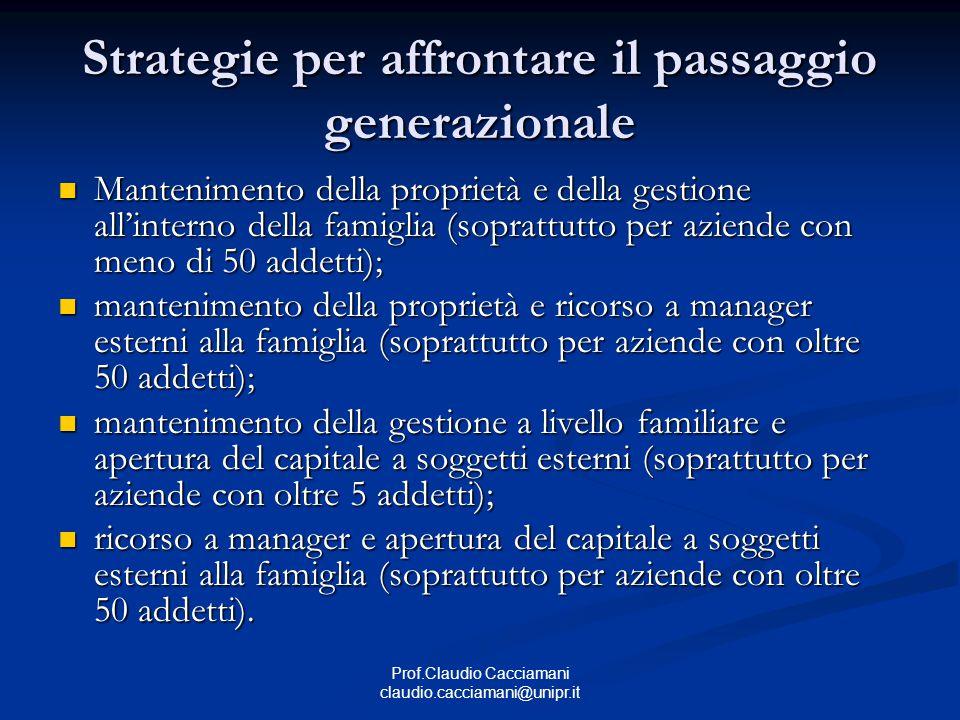 Strategie per affrontare il passaggio generazionale