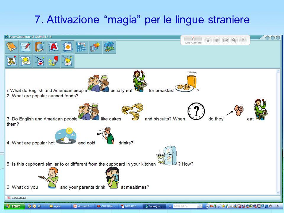 7. Attivazione magia per le lingue straniere