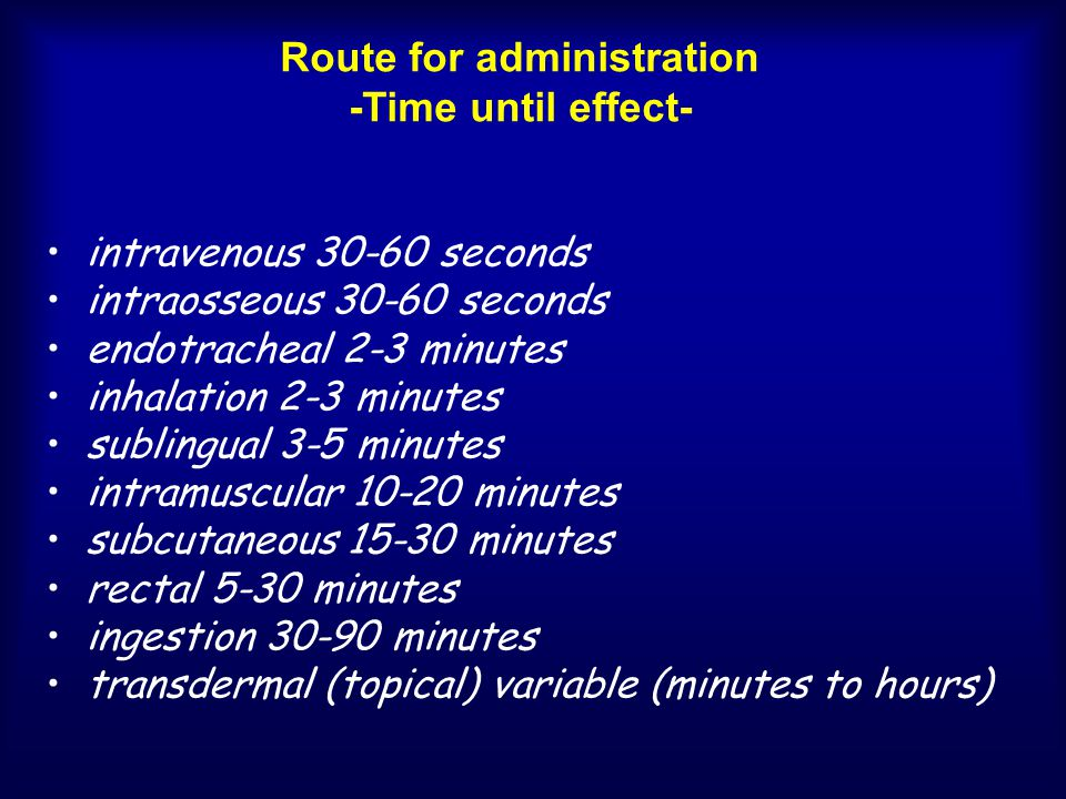 Route for administration